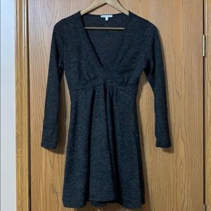 Charlotte Russe Grey Long Sleeve Dress, Small